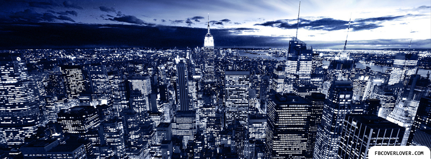 NYC overview at night Facebook Covers More Nature_Scenic Covers for Timeline