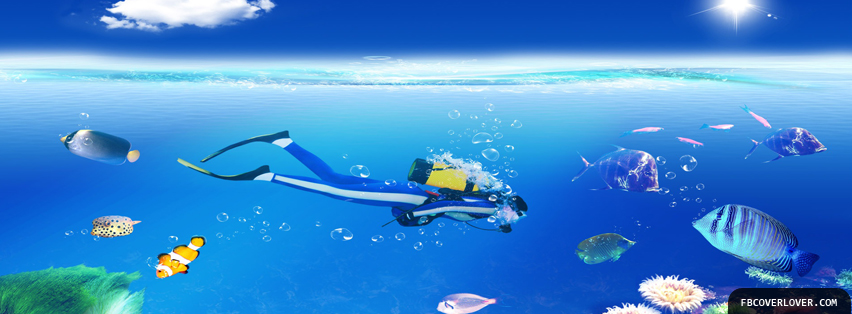 Scuba Diving 3 Facebook Covers More Summer_Sports Covers for Timeline