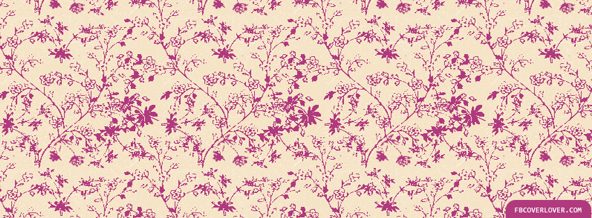 Pink Leafy Pattern Facebook Timeline  Profile Covers