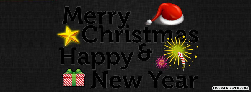 Merry Christmas And Happy New Year 4 Facebook Covers More Holidays Covers for Timeline