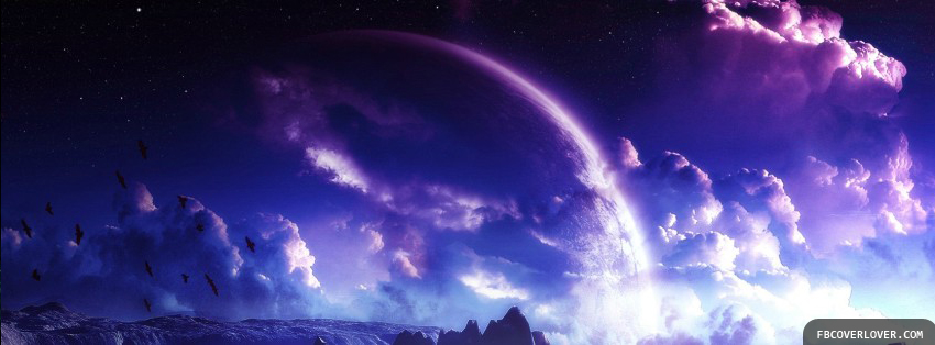Purple Sky Facebook Timeline  Profile Covers