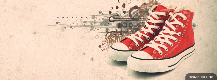 Artistic Red Converse  Facebook Covers More Artistic Covers for Timeline