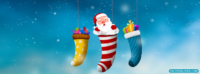 Santa In A Stocking Facebook Covers More Holidays Covers for Timeline