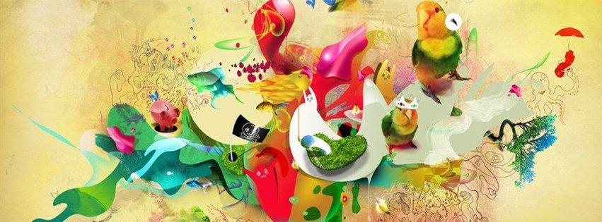 Abstract Artistic Birds