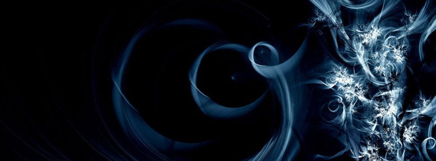 Abstract Artistic Black And Blue