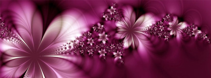 Abstract Artistic Pink Flowers
