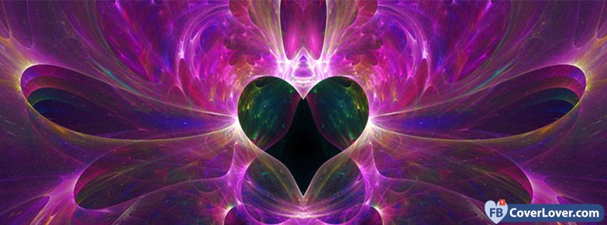 Abstract Artistic Purple Heart
