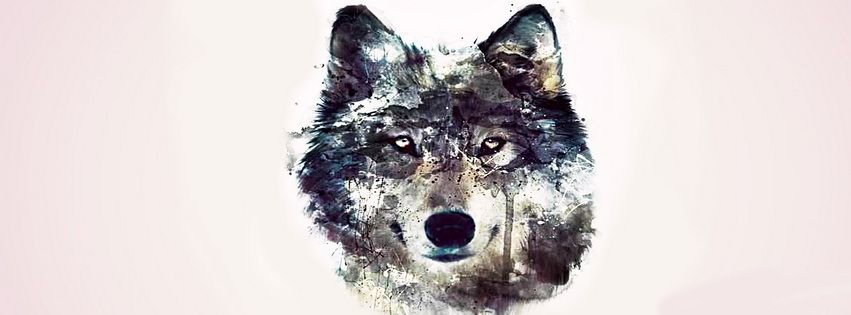 Abstract Artistic Wolf