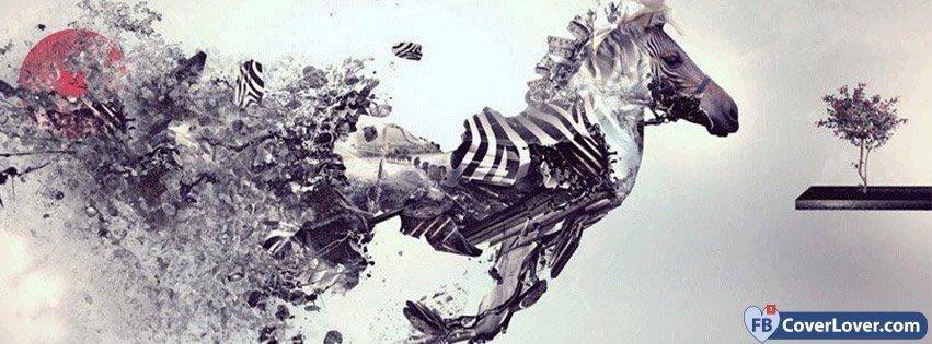 Abstract Artistic Zebra