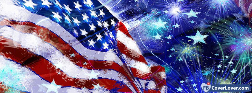 d406cfaf5781 American Flag Fireworks Holidays And Celebrations Facebook Cover