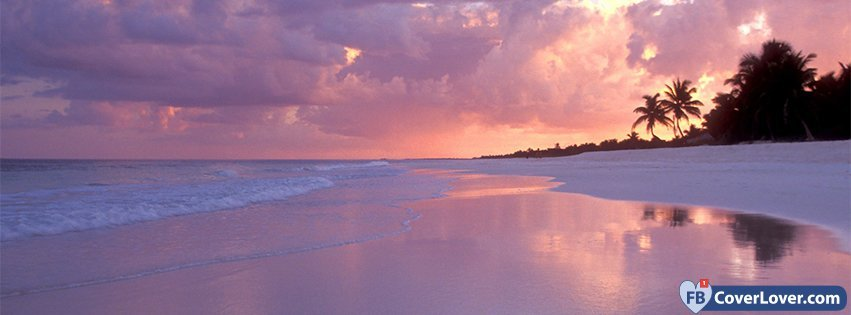 Beautiful Beach Sunset Nature And Landscape Facebook Cover