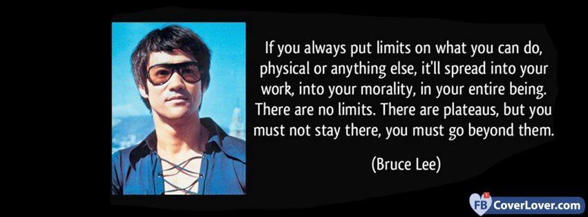 Beyond Limits Bruce Lee Quotes And Sayings Facebook Cover Maker