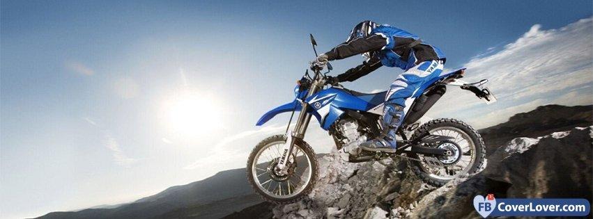 Blue Motorbike 2