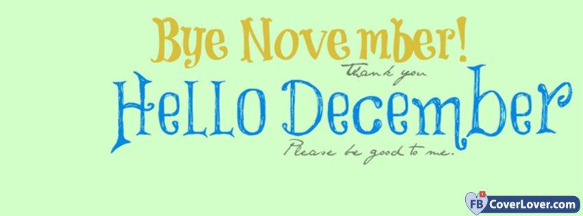 Bye November Hello December