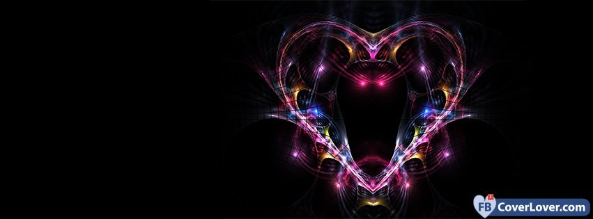 Colorful Cool Heart 60 Hearts Facebook Cover Maker Fbcoverlover Mesmerizing Heart Cool Love