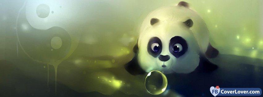 Cute Panda Facebook Cover