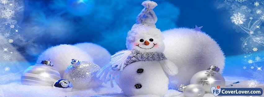 Cute Snowman seasonal Facebook Cover Maker Fbcoverlover.com
