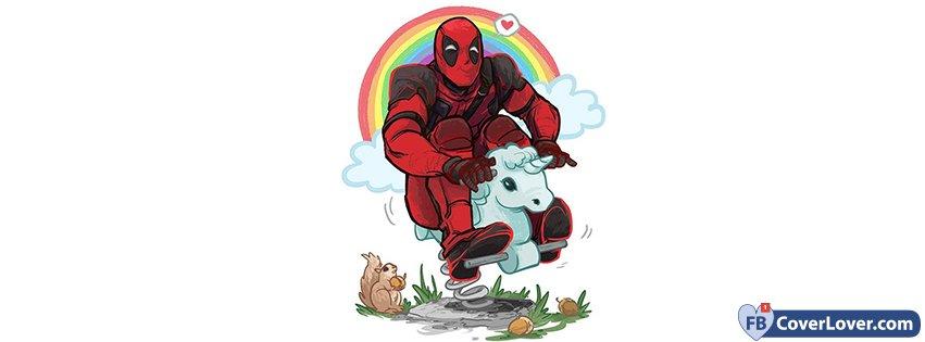 Deadpool Riding Unicorn