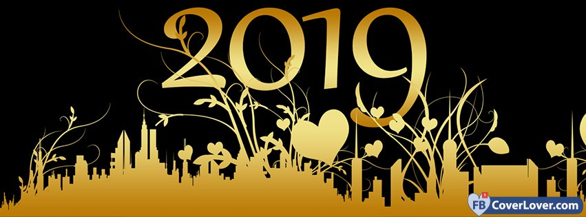 Golden Happy New Year 2019