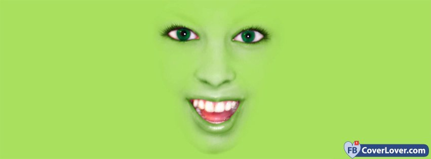 green face funny and cool facebook cover maker