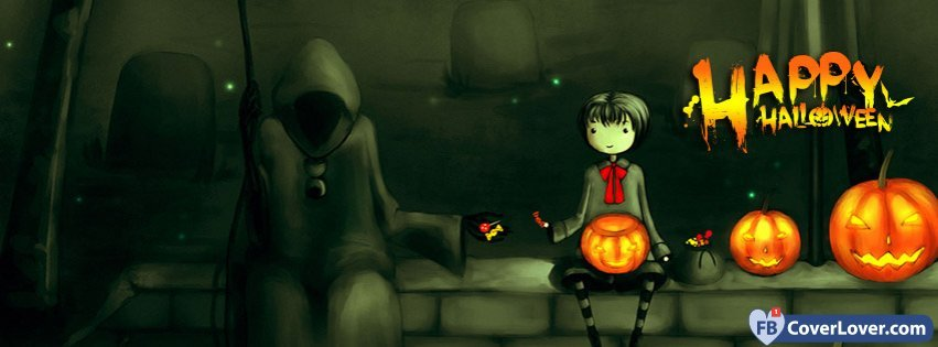 Halloween Anime 1 Facebook Cover Fbcoverlover Com