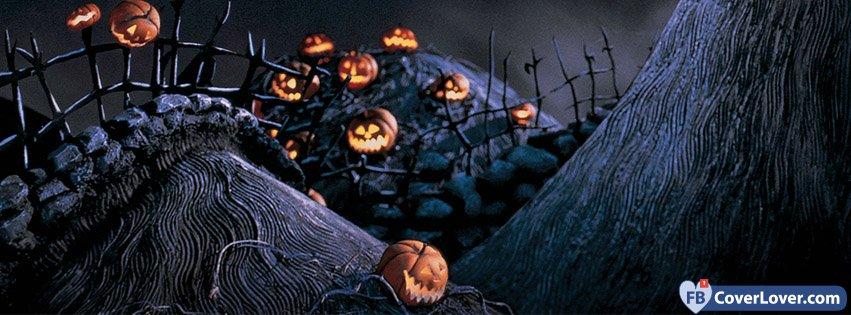 Halloween Pumpkins Cemetery