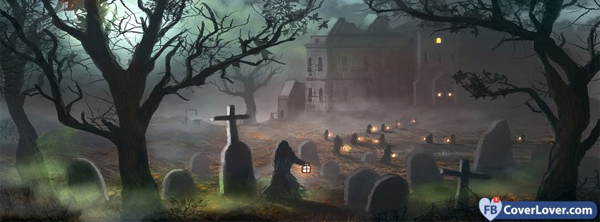 Halloween Scary Cemetery