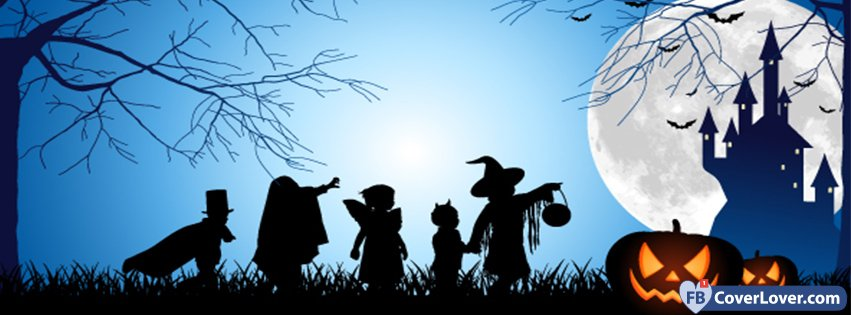 Halloween Scene Holidays And Celebrations Facebook Cover