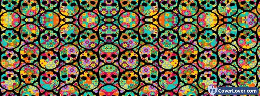 Halloween Skulls Wall