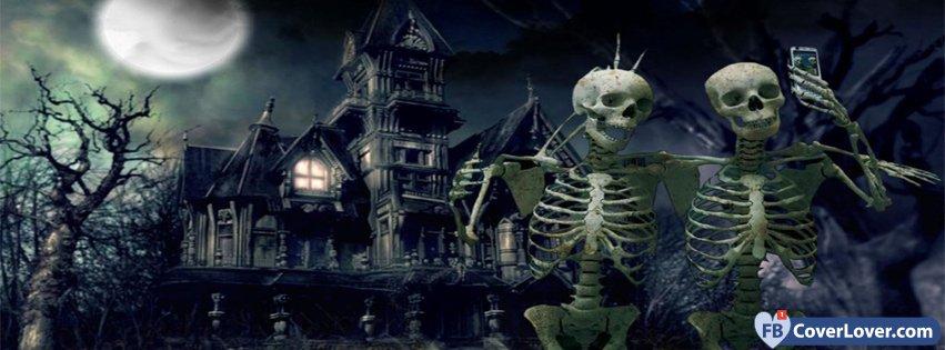 Halloween Funny Skeletons Selfie Holidays And Celebrations ...