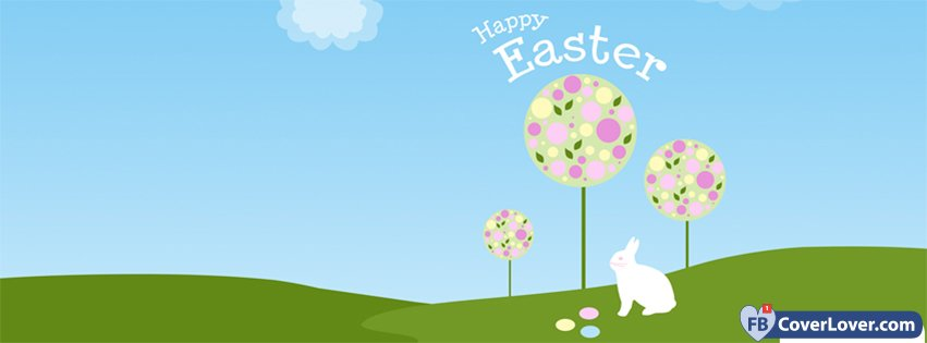 Happy Easter Eggs Trees