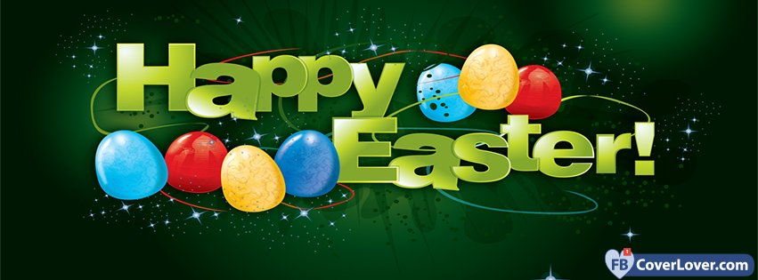 Happy Easter Sparking Green Background