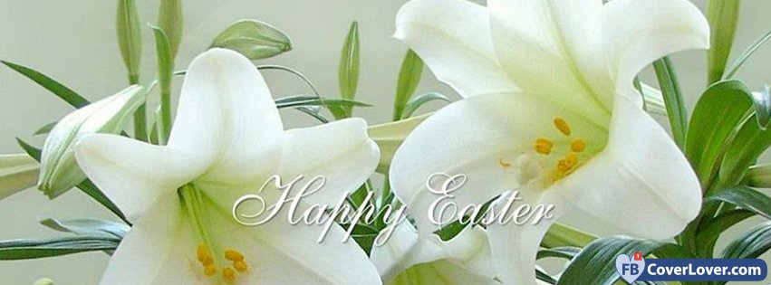Happy Easter White Lilies