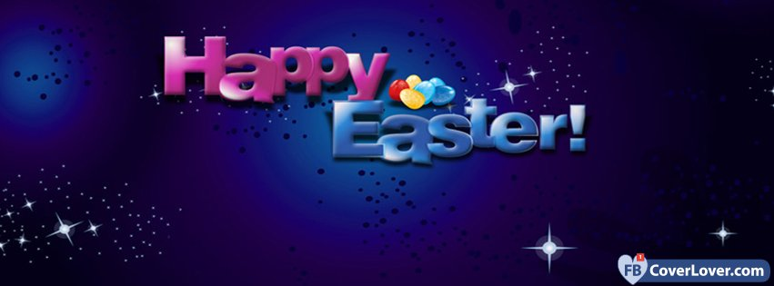 Happy Easter Stars Background