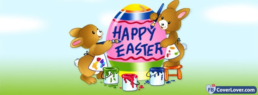 Happy Easters Painting Bunnies