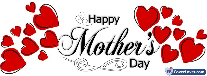 happy mother s day full of hearts seasonal facebook cover