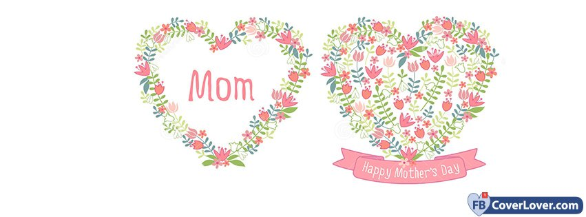 Happy Mothers Day Mom Flowers Hearts