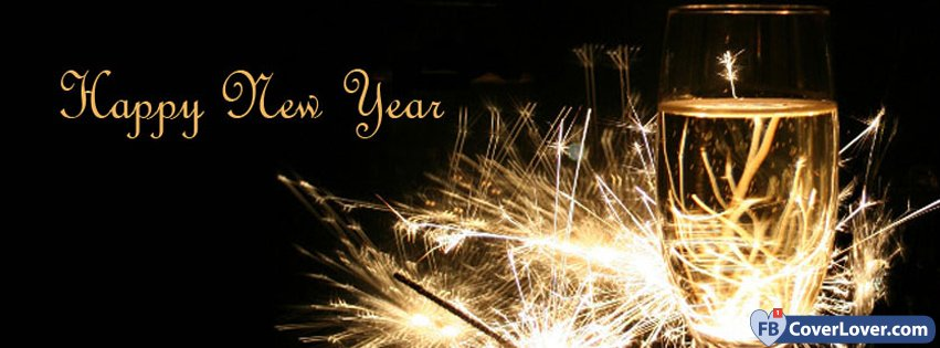 happy new year sparkling champagne holidays and celebrations facebook cover maker fbcoverlovercom