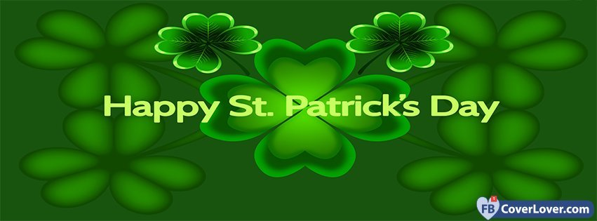 Happy Saint Patrick 2 Facebook Cover
