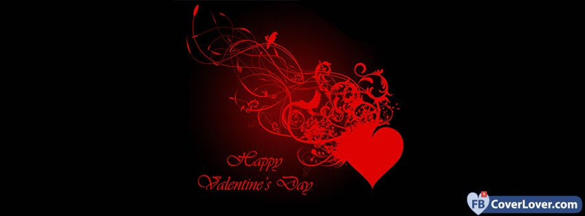 Happy Valentines Day Artistic Heart