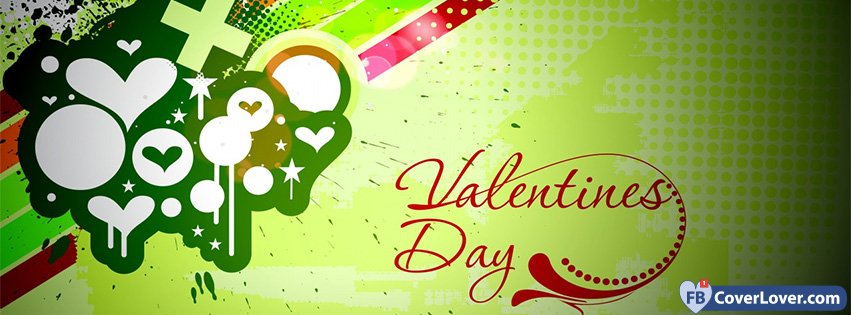 Happy Valentines Day Green Background