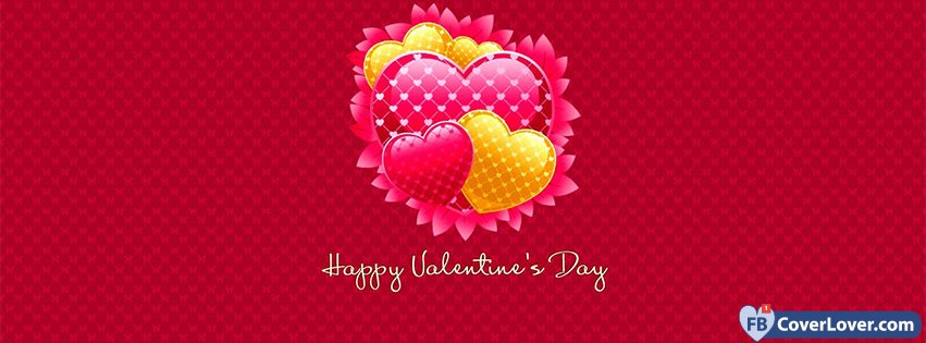 Happy Valentines Day Cute Hearts Background