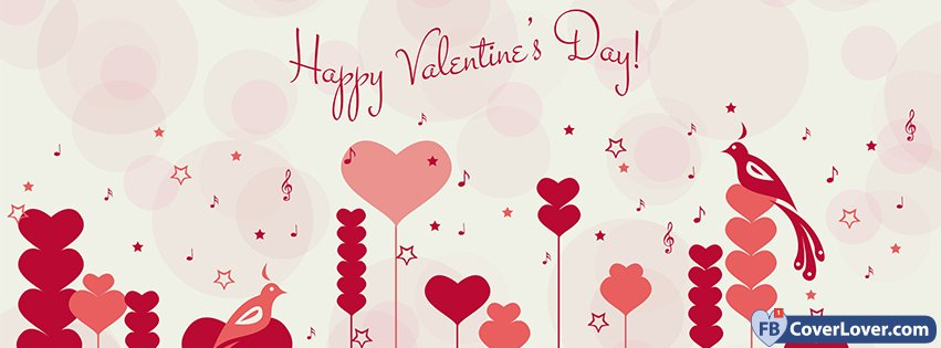 Happy Valentines Day Hearts Forest Background