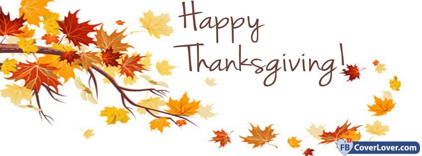 Happy Thanksgiving Autumn Leaves