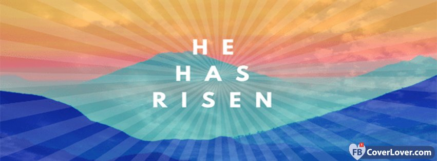 He Has Risen Easters Rainbow