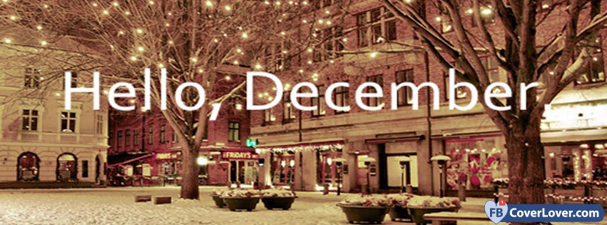 Hello December Lights And Snow
