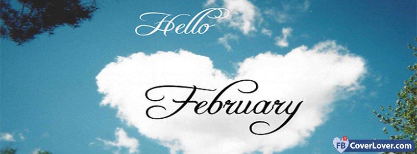 Hello February Cloud Heart-Shaped