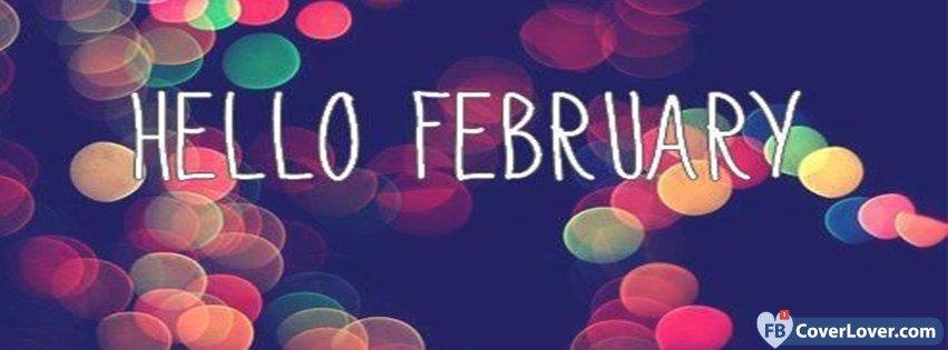 Hello February Colorful Lights