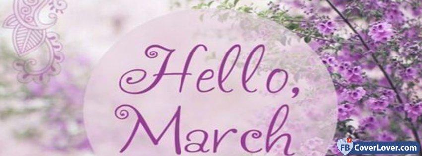 Hello March Purple Flowers