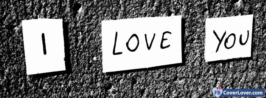 I Love You Black And White Writing